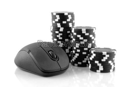 mouse e nere chip da casino
