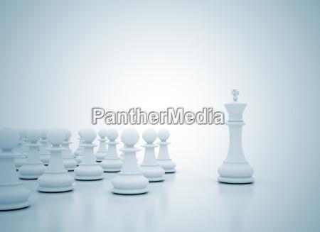 scacchi concetto di leadership re