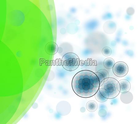 illustrazione astratto strutture cellule enzimi germi