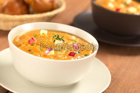 patate dolci e apple soup