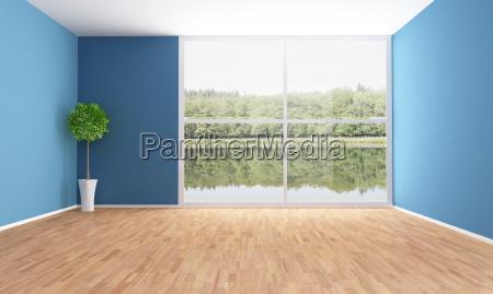 stanza blu vuota