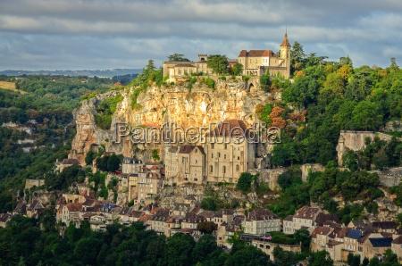 vista panoramica del villaggio di rocamadour