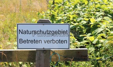 riserva naturale entrando vietato