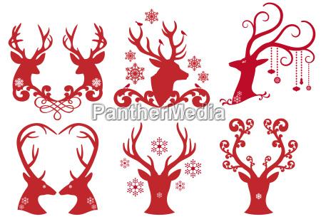 natale fiocco di neve cervo renna
