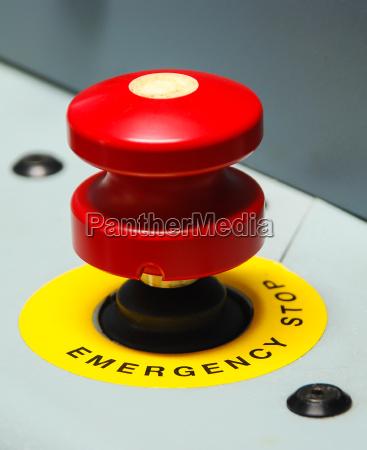 pulsante urgenza emergency red buttons notfallschild