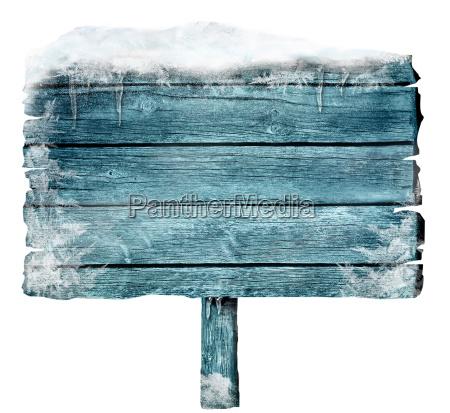 segno di legno in inverno