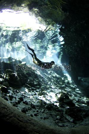 viaggio viaggiare grotta sottacqua avventura immergersi