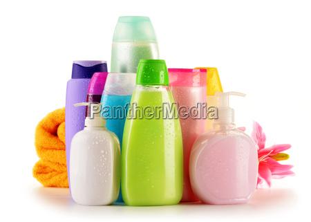 bottiglie di plastica di prodotti per