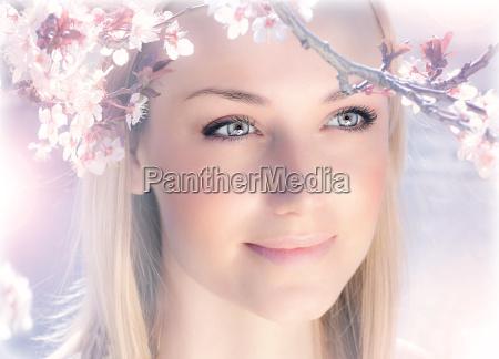 bello bella signora giardino fiore fiori