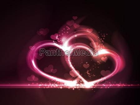 astratto cuori effetti amare amore innamorato