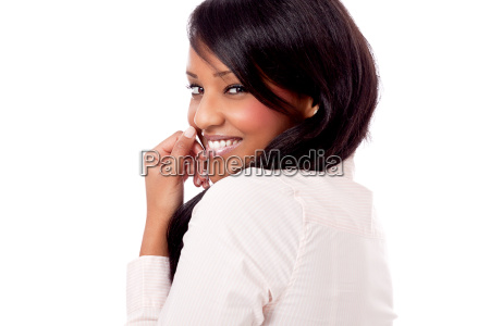 kledung young successful smiling woman in