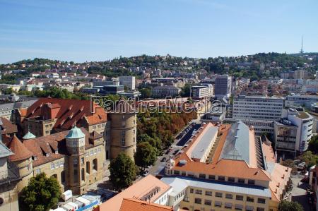 stoccarda sguardo vista castagne museo mercato
