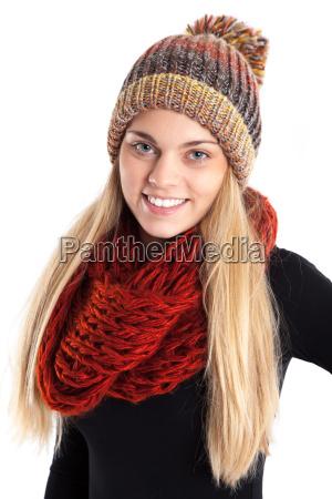 femminile inverno congelare bello carino grazioso