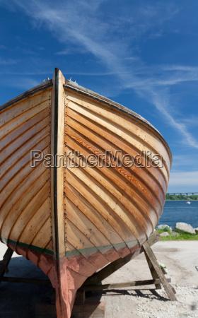 wooden boats ashore
