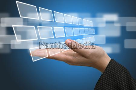 tecnologia di ingresso schermo interfaccia