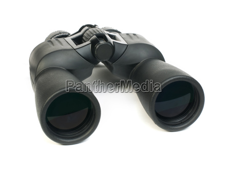 binoculars white isolated