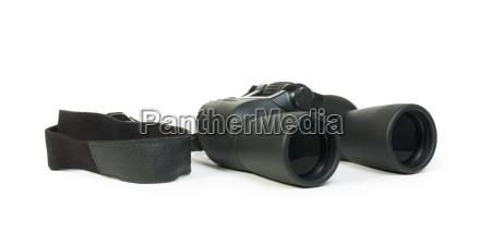 binoculars white isolated