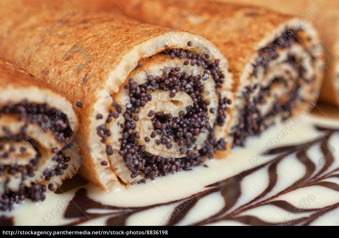 pancake, con, semi, di, papavero - 8836198