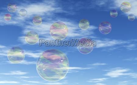 riflesso soffiare bolle di sapone trasparente