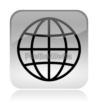 world meridians parallel web interface icon