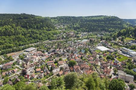 panorama della citta bad liebenzell