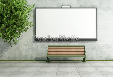 albero caucasico bianco muro poster vuoto