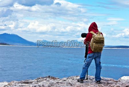 viaggiatore fotografo della fauna selvatica