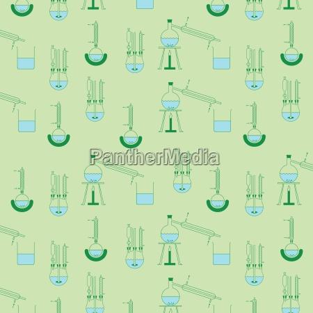 laboratorio modello distillazione alambicco fondale di