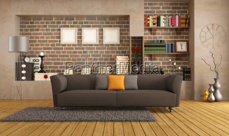 divano moderno in un salotto depoca