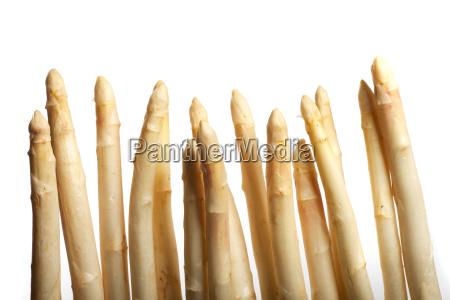 caucasico bianco fila verdura crudo asparago