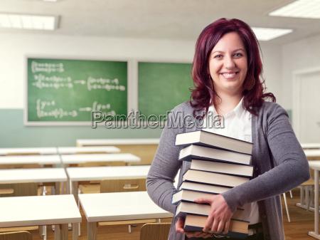 amichevole insegnante donna