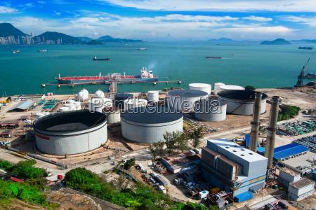 oil tank in power station
