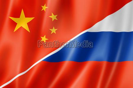 bandiera porcellana cinese russia russo