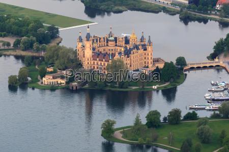castello di schwerin come veduta aerea