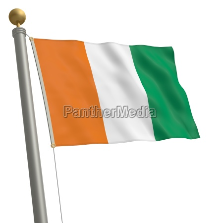 africa avorio bandiera albero asta costa