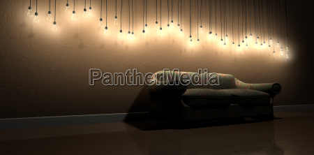 light bulb hanging wall decoration in