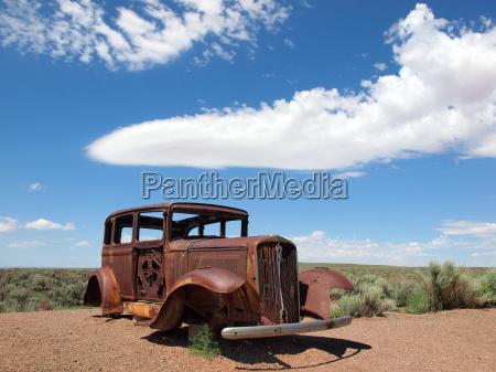 blu antico auto veicolo mezzo di