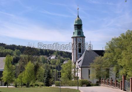 eine, kirche, im, erzgebirge - 9517326