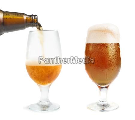 bottiglia, di, birra, e, birra, tazza - 9530142