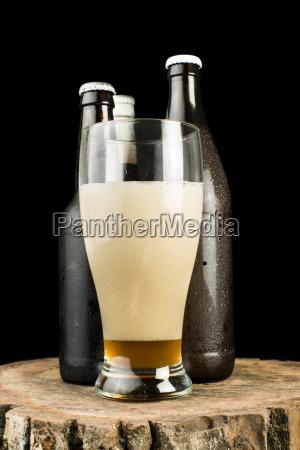 bottiglie, di, birra, e, birra, tazza - 9530234