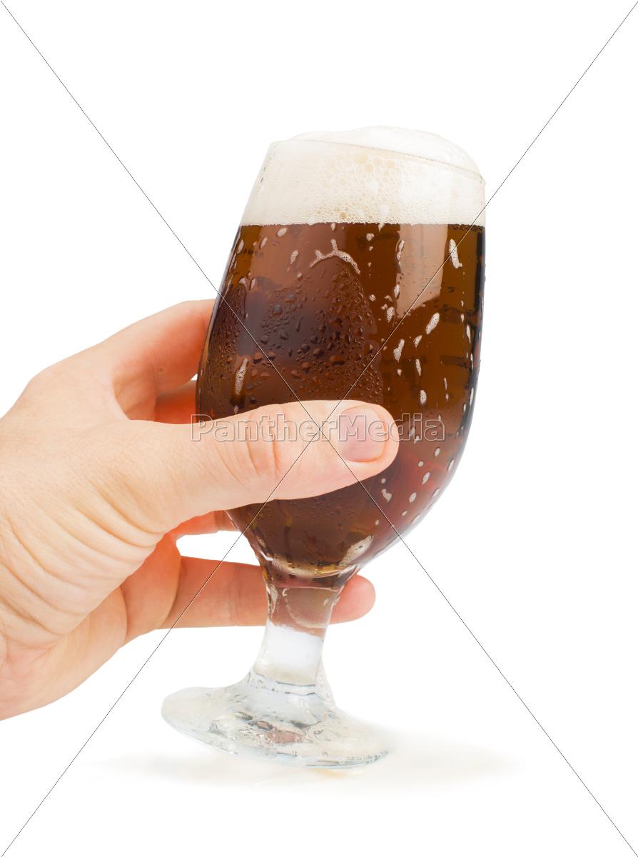 mano, in, mano, bottiglia, di, birra - 9530156