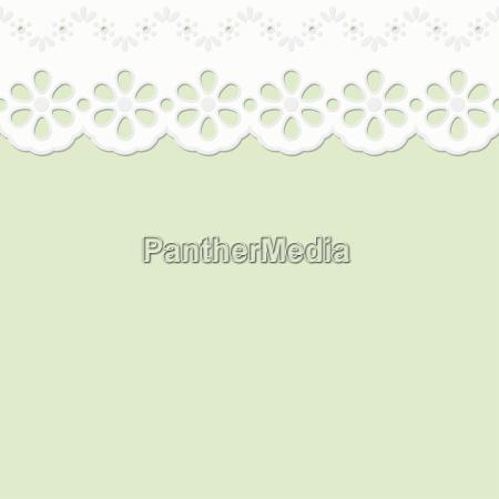 fiore verde caucasico bianco gioielli senza