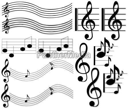 note di musica e segni