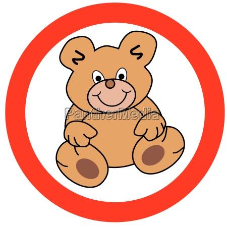 segnale opzionale orso teddy orsacchiotto cartello