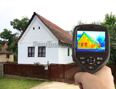 immagine termica della vecchia casa