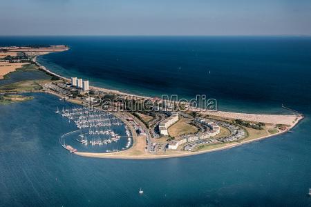 fehmarn, south, beach, -, veduta, aerea - 9722076