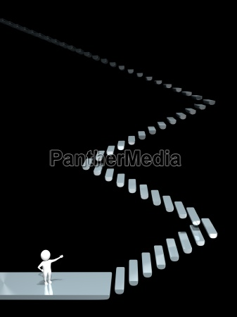 3d man stairway obscurity