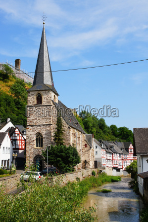 chiesa torrente muro germania villaggio castello