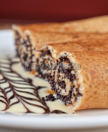 pancake, con, semi, di, papavero - 9805986