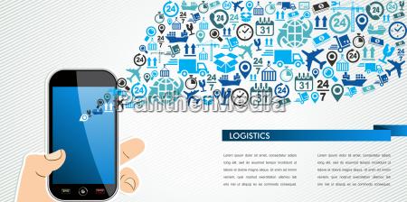 telefono blu applicazione grafico uomo umano